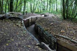 Französisch Graben rekonstruiert auf dem Saillant von St. Mihiel